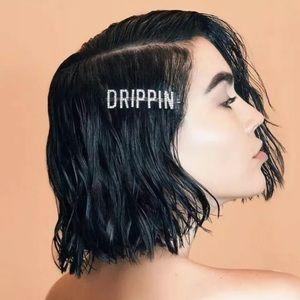 "✨New ""DRIPPIN"" Silver Rhinestone Hairpin"